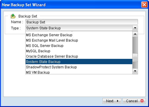 how to take system state backup in windows 2008 r2